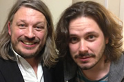 Richard Herring's LST Podcast. Image shows from L to R: Richard Herring, Edgar Wright.