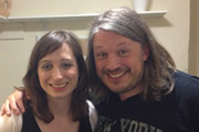 Richard Herring's LST Podcast. Image shows from L to R: Isy Suttie, Richard Herring.