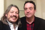Richard Herring's LST Podcast. Image shows from L to R: Richard Herring, Mark Thomas.