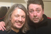 Richard Herring's LST Podcast. Image shows from L to R: Richard Herring, Sean Hughes.