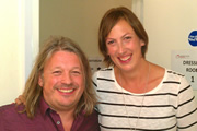 Richard Herring's Leicester Square Theatre Podcast. Image shows from L to R: Richard Herring, Miranda Hart.