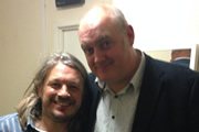Richard Herring's Leicester Square Theatre Podcast. Image shows from L to R: Richard Herring, Dara O Briain.