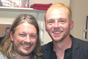 Richard Herring's Leicester Square Theatre Podcast. Image shows from L to R: Richard Herring, Simon Pegg.