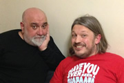 Richard Herring's Leicester Square Theatre Podcast. Image shows from L to R: Alexei Sayle, Richard Herring.