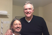 Richard Herring's Leicester Square Theatre Podcast. Image shows from L to R: Richard Herring, Greg Davies.