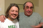 Richard Herring's Leicester Square Theatre Podcast. Image shows from L to R: Richard Herring, Danny Baker.