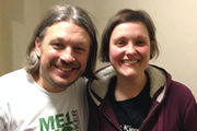 Richard Herring's Leicester Square Theatre Podcast. Image shows from L to R: Richard Herring, Josie Long.