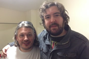 Richard Herring's Leicester Square Theatre Podcast. Image shows from L to R: Richard Herring, Nick Helm.