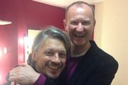Richard Herring's Leicester Square Theatre Podcast. Image shows from L to R: Richard Herring, Mark Gatiss.