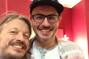 Image shows from L to R: Richard Herring, Brendon Burns.