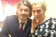 Richard Herring's Leicester Square Theatre Podcast. Image shows from L to R: Richard Herring, Sara Pascoe.