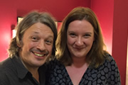 Image shows from L to R: Richard Herring, Sarah Millican.