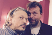 Richard Herring's Leicester Square Theatre Podcast. Image shows from L to R: Richard Herring, Michael Legge.