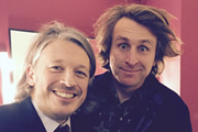Richard Herring's Leicester Square Theatre Podcast. Image shows from L to R: Richard Herring, Milton Jones.
