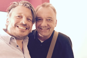 Richard Herring's Leicester Square Theatre Podcast. Image shows from L to R: Richard Herring, Bob Mortimer.