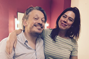 Image shows from L to R: Richard Herring, Lou Sanders.