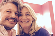 Richard Herring's Leicester Square Theatre Podcast. Image shows from L to R: Richard Herring, Emma Kennedy.