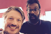 Richard Herring's Leicester Square Theatre Podcast. Image shows from L to R: Richard Herring, Romesh Ranganathan.