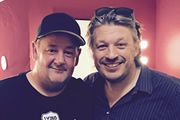 Image shows from L to R: Johnny Vegas, Richard Herring.