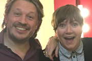Richard Herring's Leicester Square Theatre Podcast. Image shows from L to R: Richard Herring, Jessica Hynes.