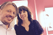 Richard Herring's Leicester Square Theatre Podcast. Image shows from L to R: Richard Herring, Bridget Christie.