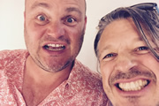 Richard Herring's Leicester Square Theatre Podcast. Image shows from L to R: Al Murray, Richard Herring.