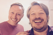 Richard Herring's Leicester Square Theatre Podcast. Image shows from L to R: Brian Limond, Richard Herring.