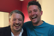 Richard Herring's Leicester Square Theatre Podcast. Image shows from L to R: Richard Herring, Stuart Goldsmith.