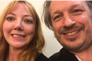 Richard Herring's Leicester Square Theatre Podcast. Image shows from L to R: Diane Morgan, Richard Herring.