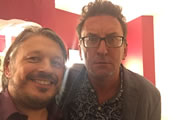 Richard Herring's Leicester Square Theatre Podcast. Image shows from L to R: Richard Herring, Lee Mack.