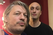 Richard Herring's Leicester Square Theatre Podcast. Image shows from L to R: Richard Herring, Robert Popper.