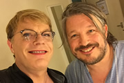 Richard Herring's Leicester Square Theatre Podcast. Image shows from L to R: Eddie Izzard, Richard Herring.