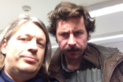 Richard Herring's Leicester Square Theatre Podcast. Image shows from L to R: Richard Herring, Mike Wozniak.