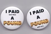 Richard Herring's Meaning Of Life - I Paid A Pound badges.