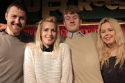 Roisin Conaty - What If?. Image shows from L to R: Lloyd Langford, Sara Pascoe, James Acaster, Roisin Conaty. Copyright: BBC.