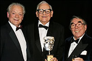 Ronnie Barker: A BAFTA Tribute. Image shows from L to R: David Jason, Ronnie Barker, Ronnie Corbett.