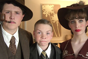 School Of Comedy. Image shows from L to R: Max Brown, Will Poulter, Ella Ainsworth. Image credit: Left Bank Pictures.