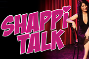 Shappi Talk. Shappi Khorsandi. Copyright: Open Mike Productions.