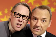 Shooting Stars. Image shows from L to R: Vic Reeves, Bob Mortimer. Image credit: Channel X.