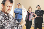 Sitcom Does.... Image shows from L to R: Hugh Dennis, Neil Morrissey, Joanna Page, Ricky Tomlinson. Image credit: North One Television.