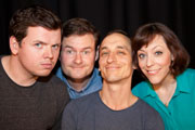 So On & So Forth. Image shows from L to R: Martin Allanson, John Sheerman, Nick Gadd, Alison Thea-Skot. Copyright: The Comedy Unit.