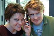 Soloparentpals.com. Image shows from L to R: Rosie (Liz White), Tom (Julian Rhind-Tutt). Copyright: BBC.