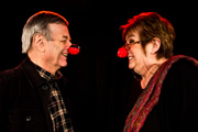 Stand Up For Comic Relief. Image shows from L to R: Tony Blackburn, Jenni Murray. Copyright: BBC.