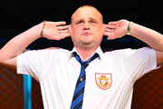 Stand Up For Pudsey. The Pub Landlord (Al Murray). Copyright: BBC.