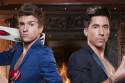 Staying In With Greg & Russell. Image shows from L to R: Greg James, Russell Kane. Copyright: Talkback.