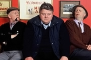 Still Game. Image shows from L to R: Jack Jarvis (Ford Kiernan), Davie (Robbie Coltrane), Victor McDade (Greg Hemphill). Image credit: The Comedy Unit.
