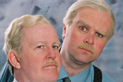 Still Game. Image shows from L to R: Jack Jarvis (Ford Kiernan), Victor McDade (Greg Hemphill). Image credit: The Comedy Unit.