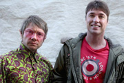 Svengali. Image shows from L to R: Don (Martin Freeman), Dixie (Jonny Owen). Copyright: Root Films.
