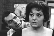Sykes And A.... Image shows from L to R: Eric (Eric Sykes), Hat (Hattie Jacques). Copyright: BBC.