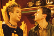 Terry And Julian. Image shows from L to R: Julian (Julian Clary), Terry (Lee Simpson). Copyright: Wonderdog Productions.